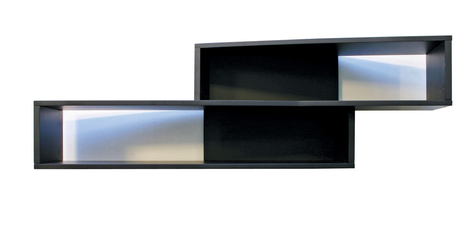 Luca angled black wall shelf walmart canada amipublicfo Gallery