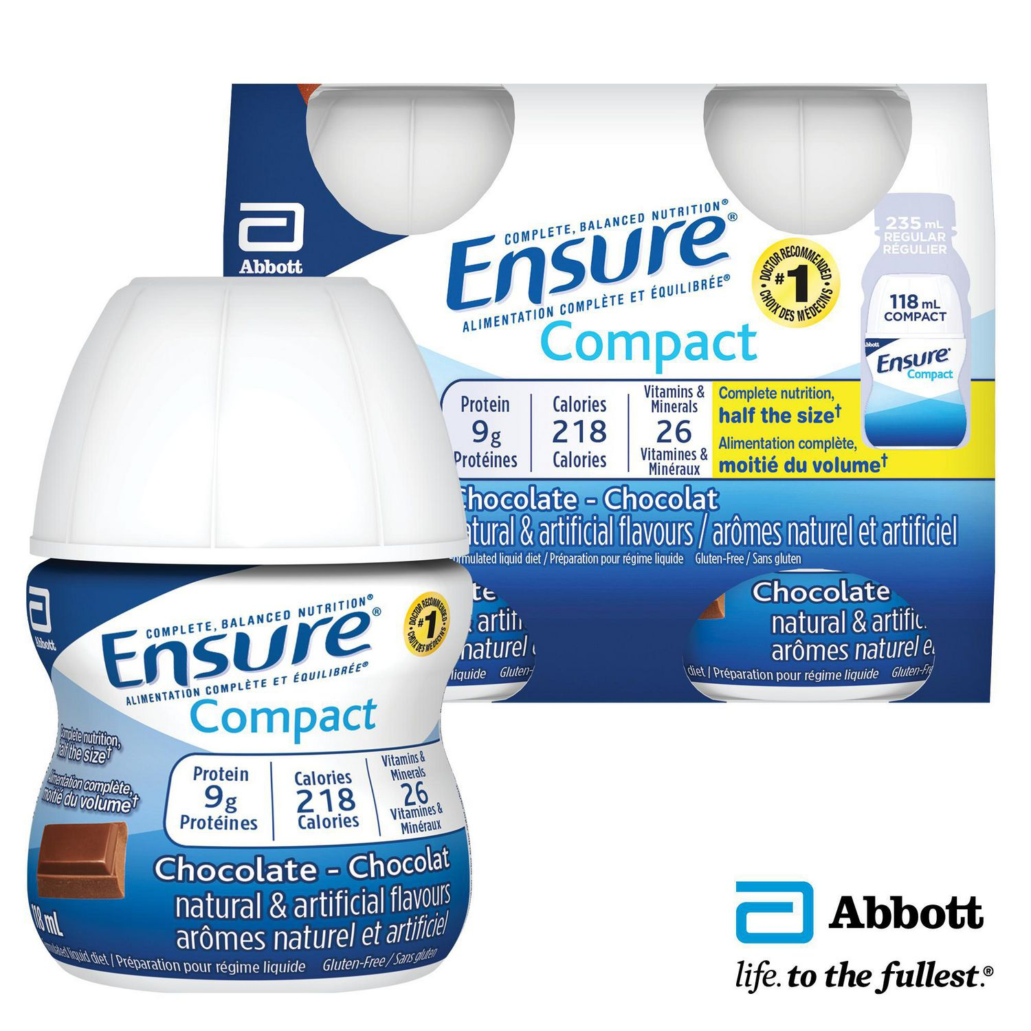 Ensure® Compact, Complete Balanced Nutrition, Chocolate, 4 ...