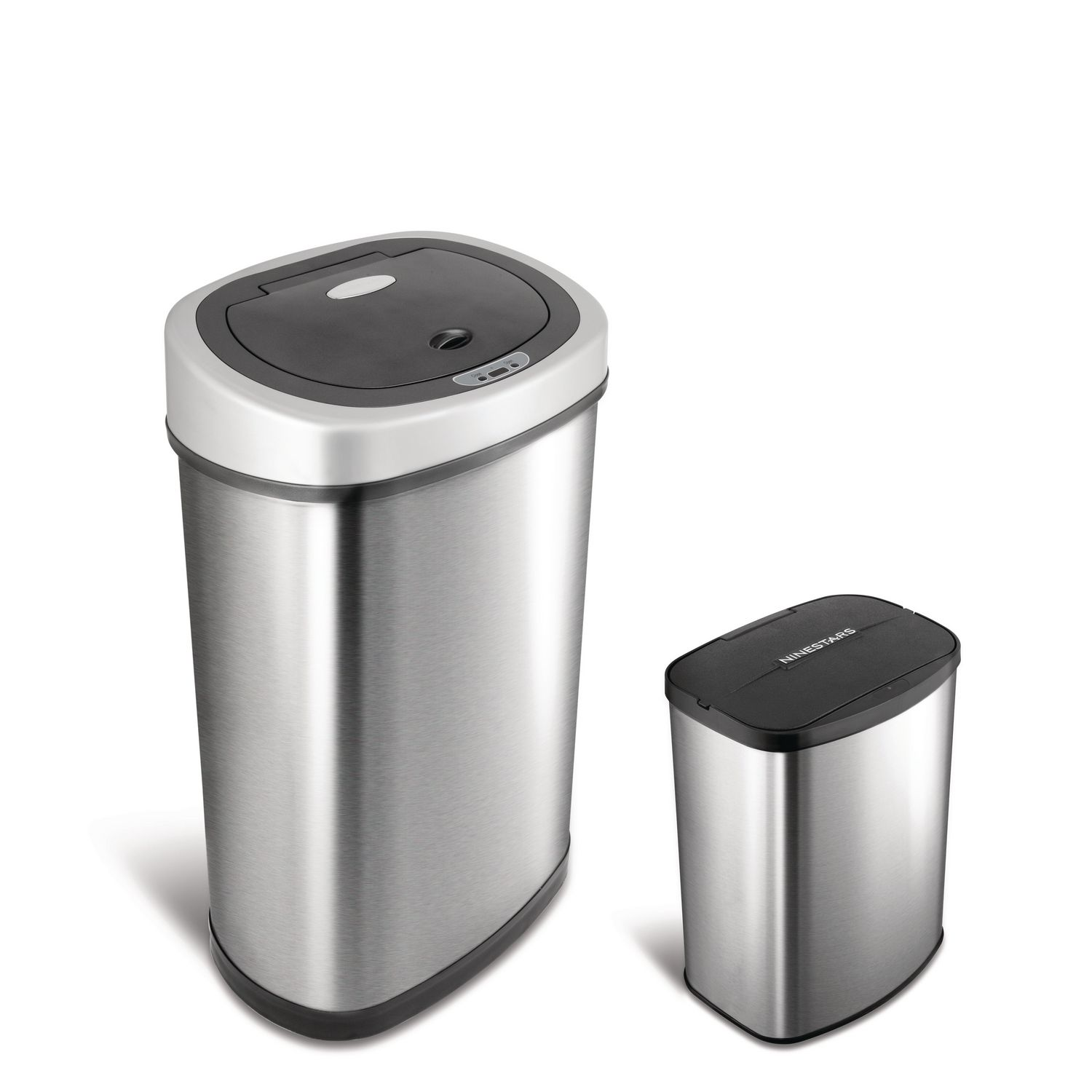 Kitchen Garbage Can Nine Stars Motion Sensor Touchless 132 Gallon And 21 Gallon