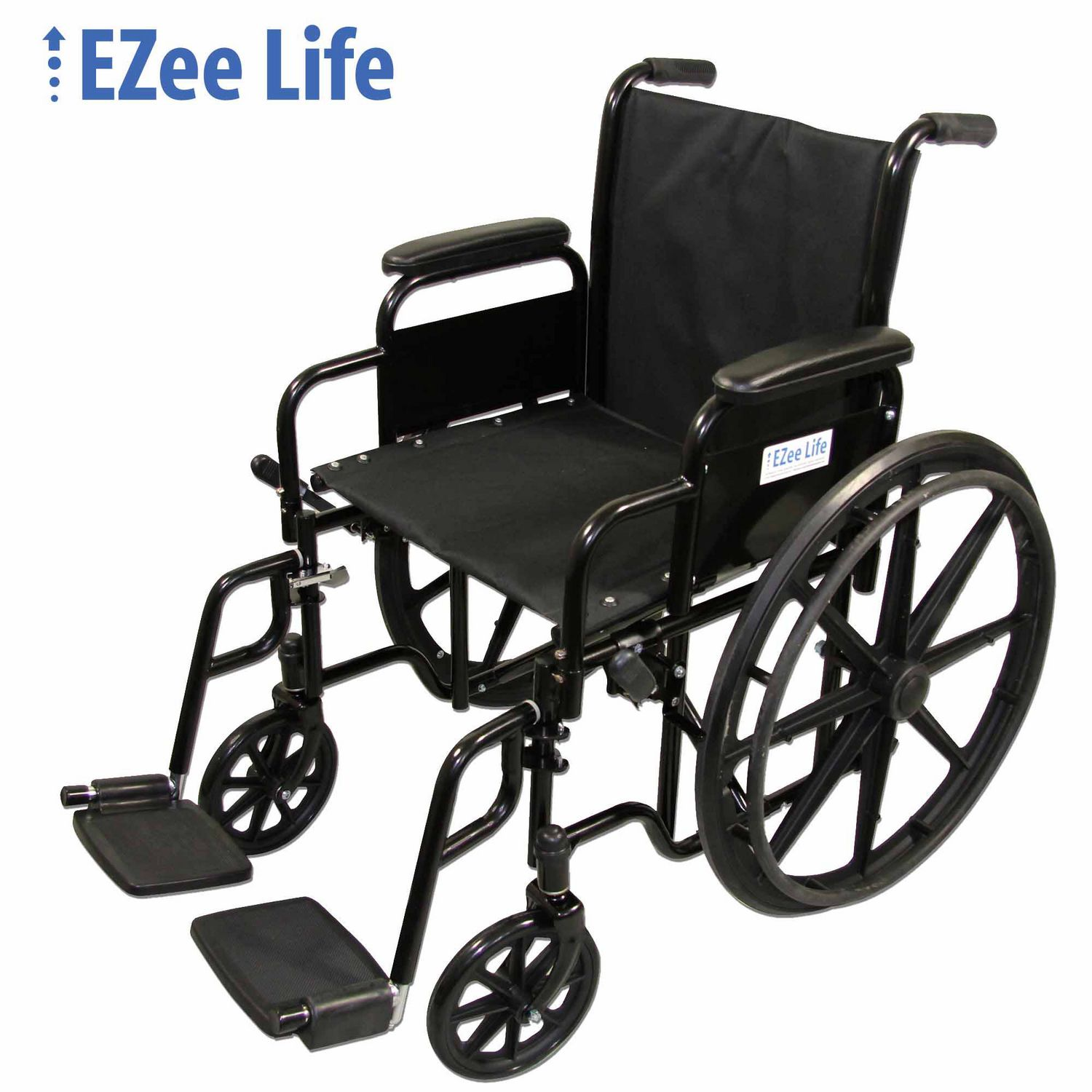"""EZee Life Standard 18"""" Seat Width Wheelchair with removeable arms"""