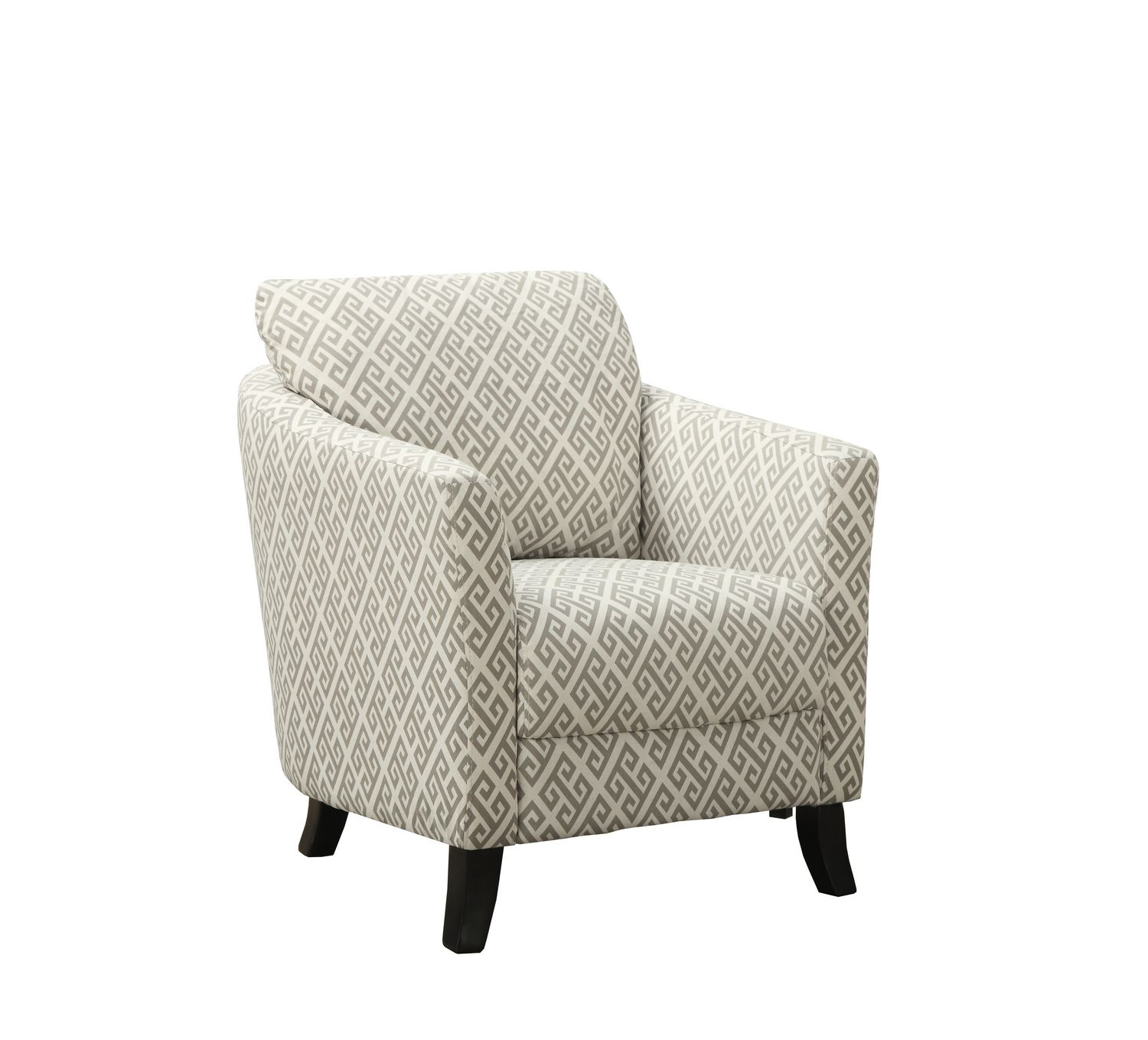 Grey Patterned Accent Chair Magnificent Inspiration Design