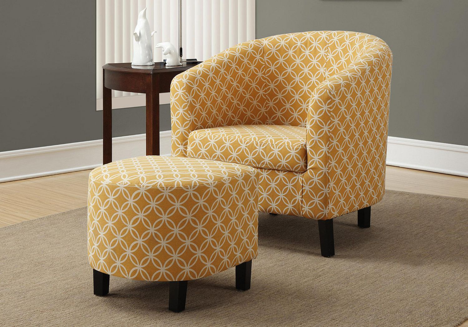 Monarch Specialties Yellow Accent Chair
