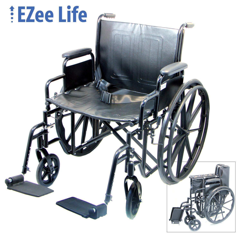"""Ezee Life 18"""" Seat Width Economy Wheelchair"""