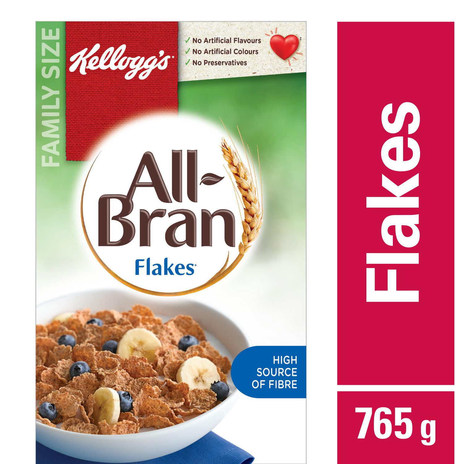 Kellogg's All-Bran Flakes Cereal, 765g
