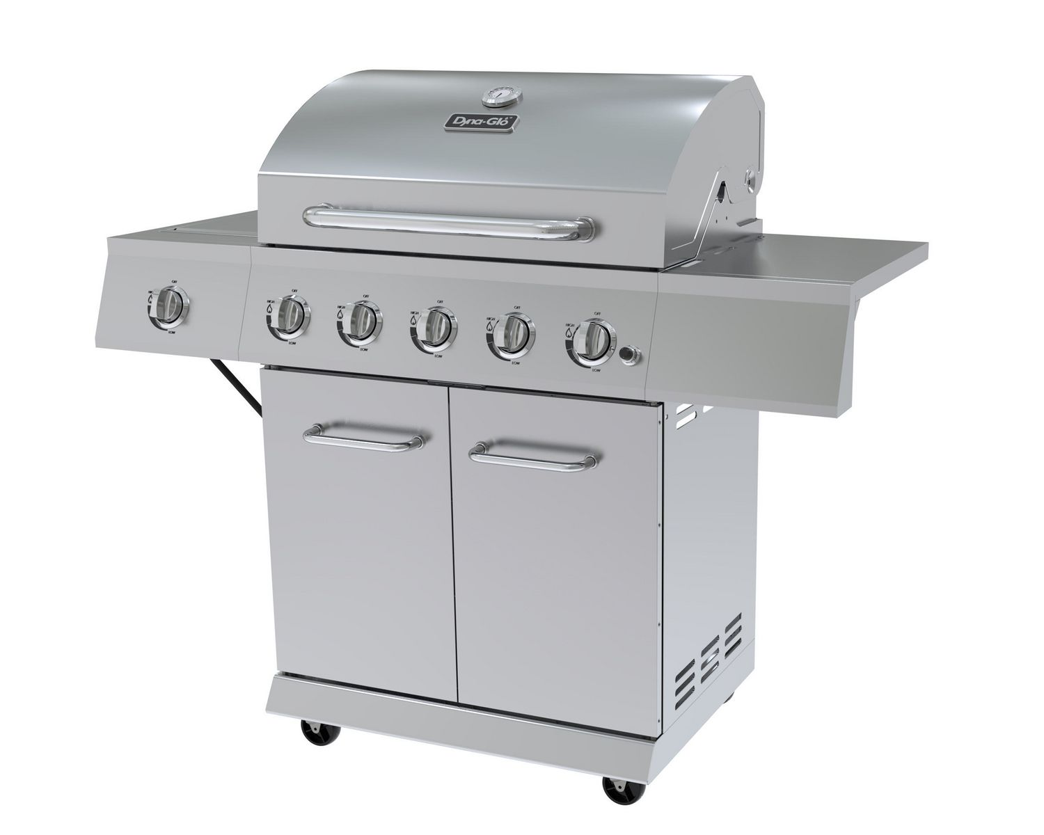 Dyna Glo Dge530ssp D 5 Burner Stainless Steel Lp Gas Grill Walmart Canada