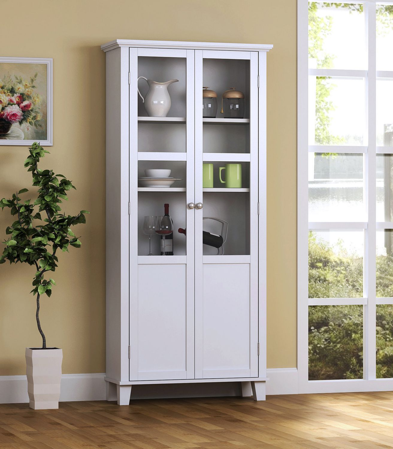 Homestar 2 Door Storage Cabinet in White | Walmart Canada
