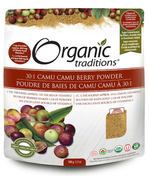 Organic Traditions 30:1 Camu Camu Berry Powder