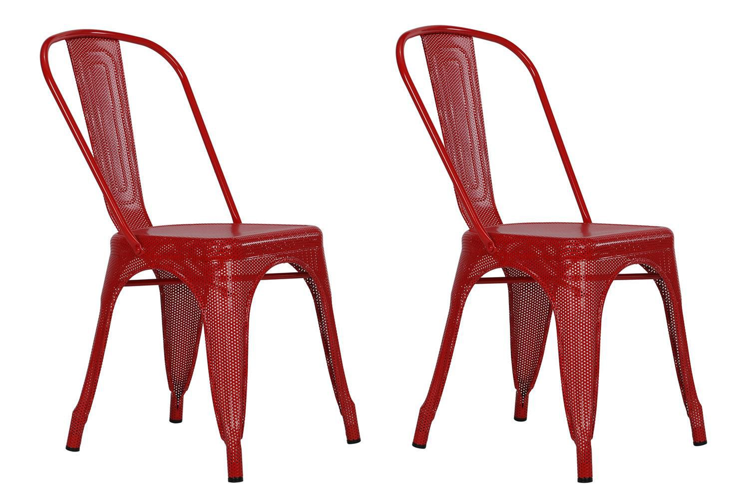 Picture of: Dhp Nova Red Metal Mesh Dining Chairs Walmart Canada