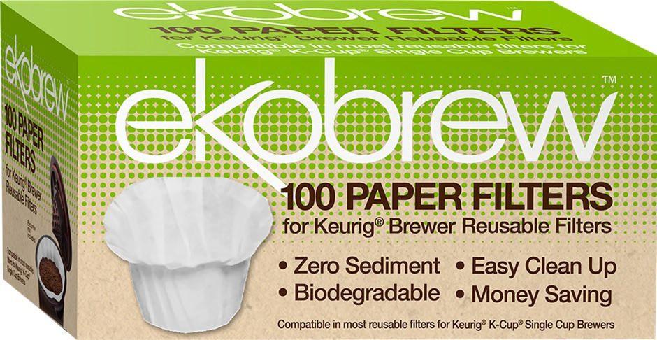 ekobrew 100-pieces single serve paper filters | walmart canada