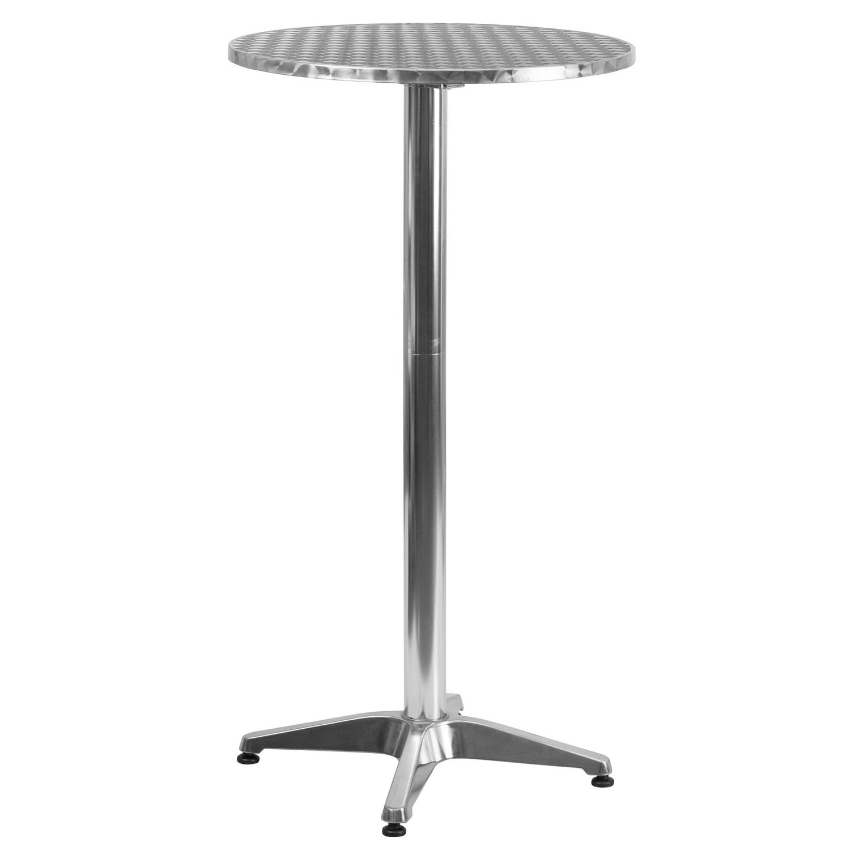- Flash Furniture 23.25'' Round Aluminium Folding Bar Height Table