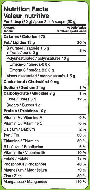 Hemp heart nutrition facts