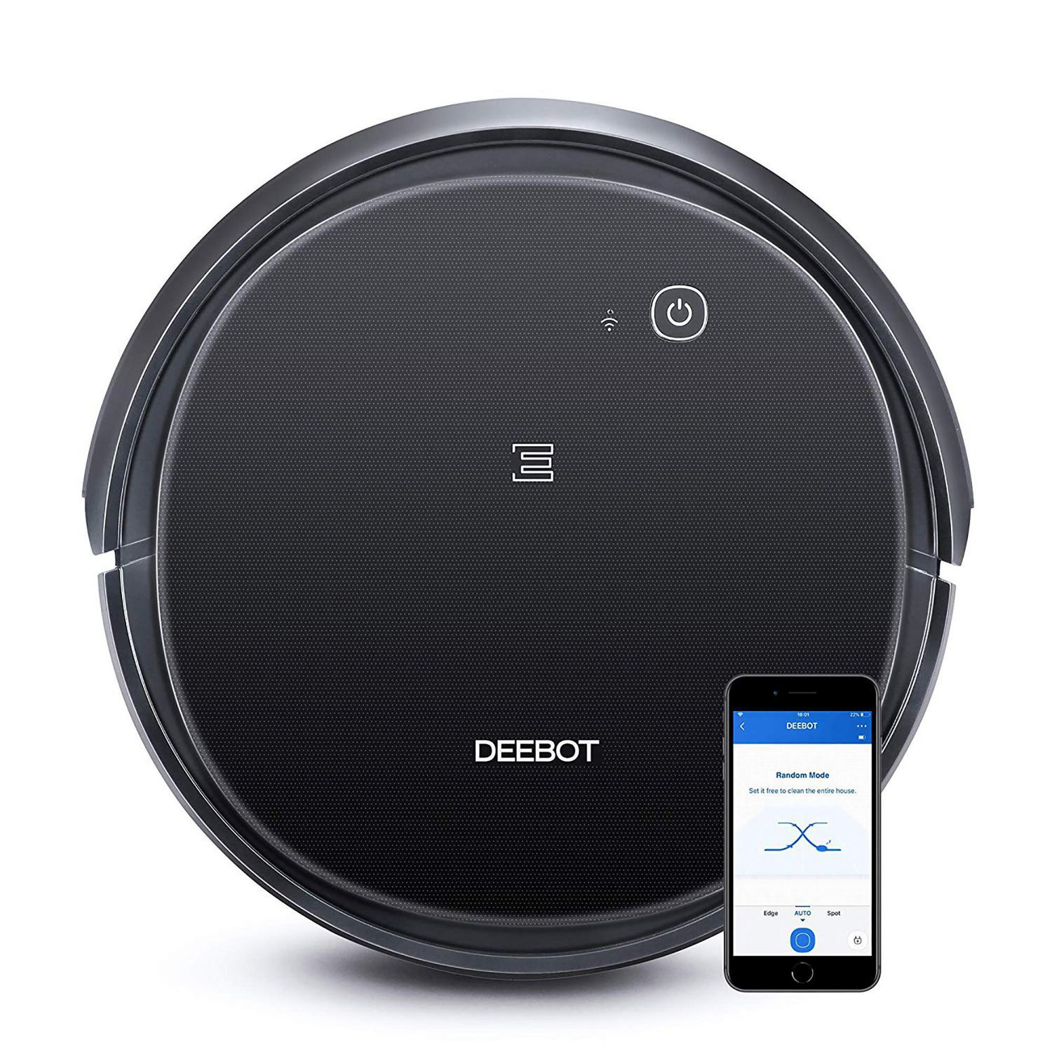 Best Robot Vacuums - Best Robot Vacuum for Carpet - black Ecovacs Deebot 500 robotic vacuum