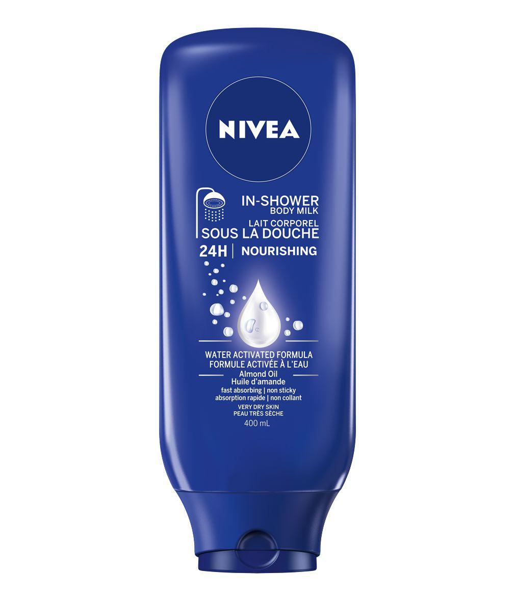 nivea nourishing almond oil inshower body milk for dry to very dry skin walmartca