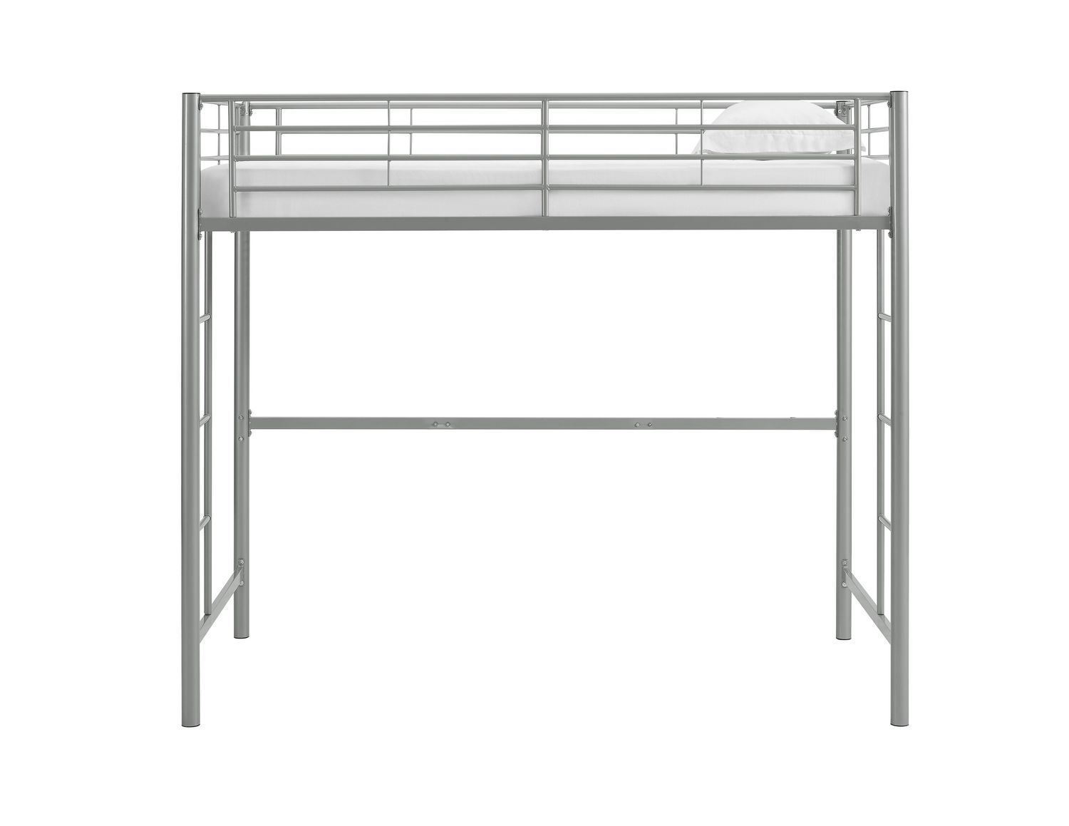 Walker Edison Twin Metal Loft Bed Silver Walmart Canada