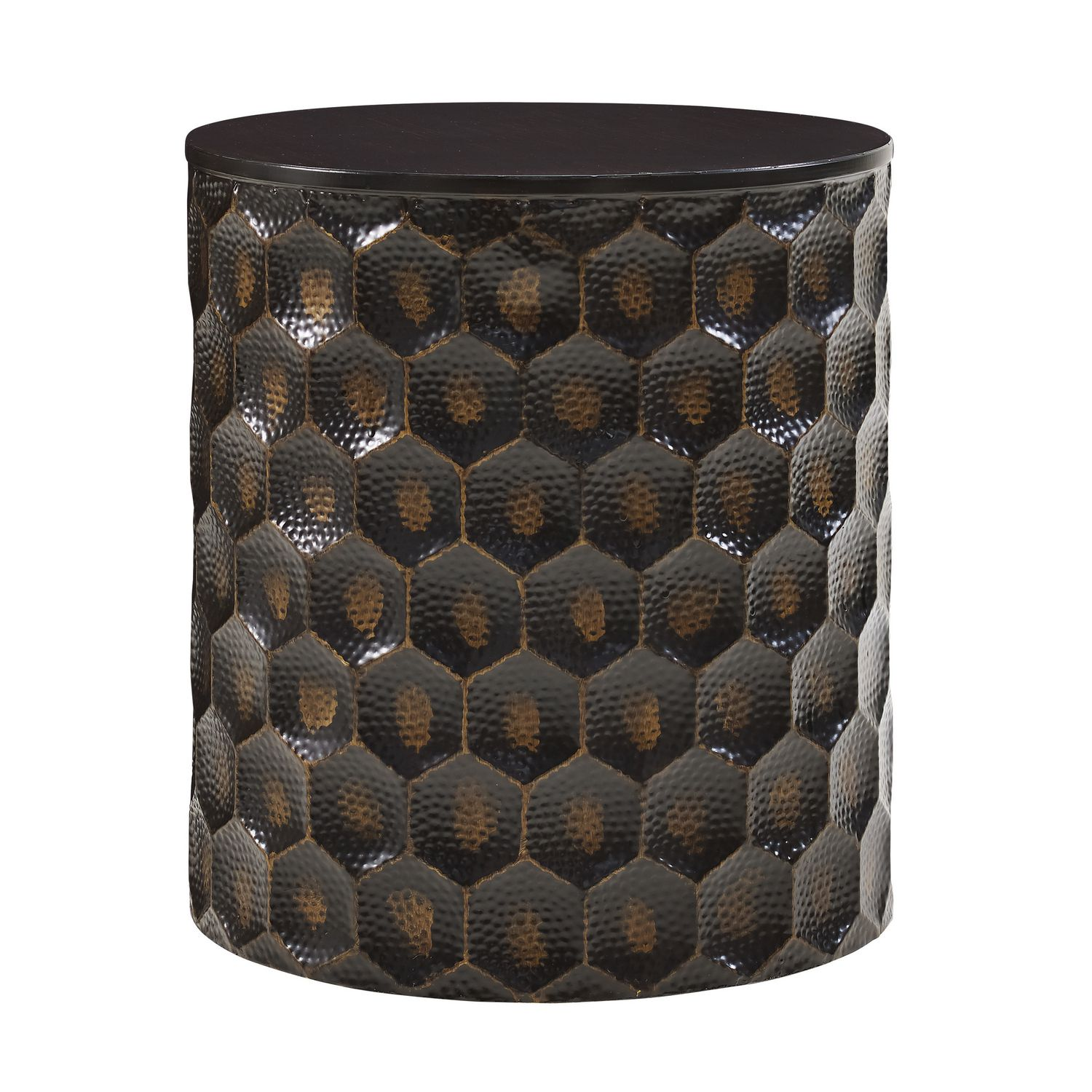 Hometrends Copper Metal Accent Table
