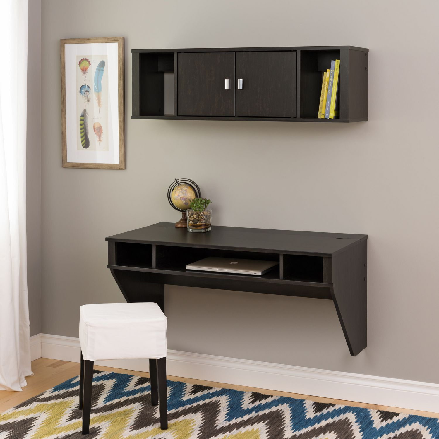 espresso wall en canada mounted walmart hutch desk prepac mount ip
