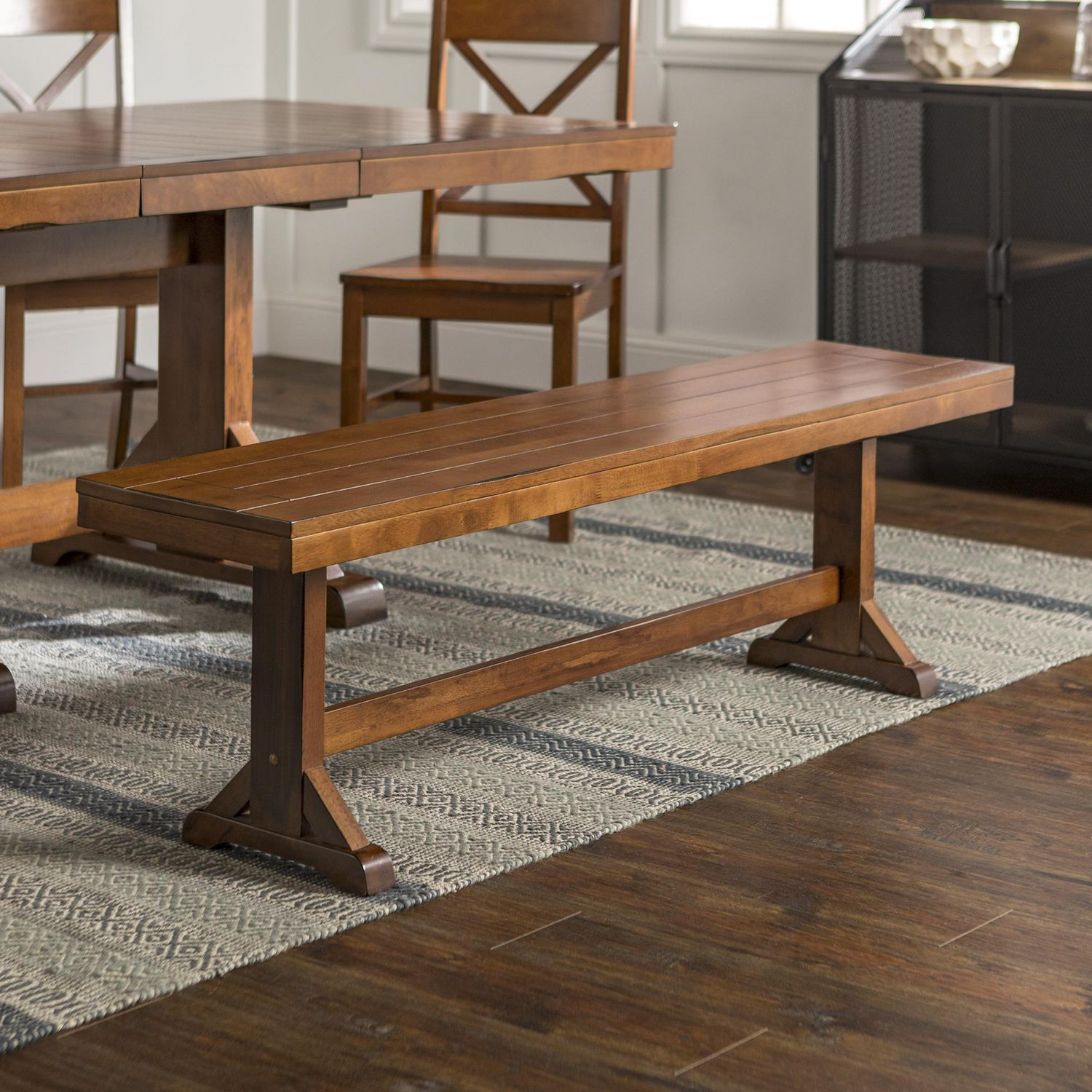 Manor Park 9 Person Wood Dining Bench - Multiple Finishes
