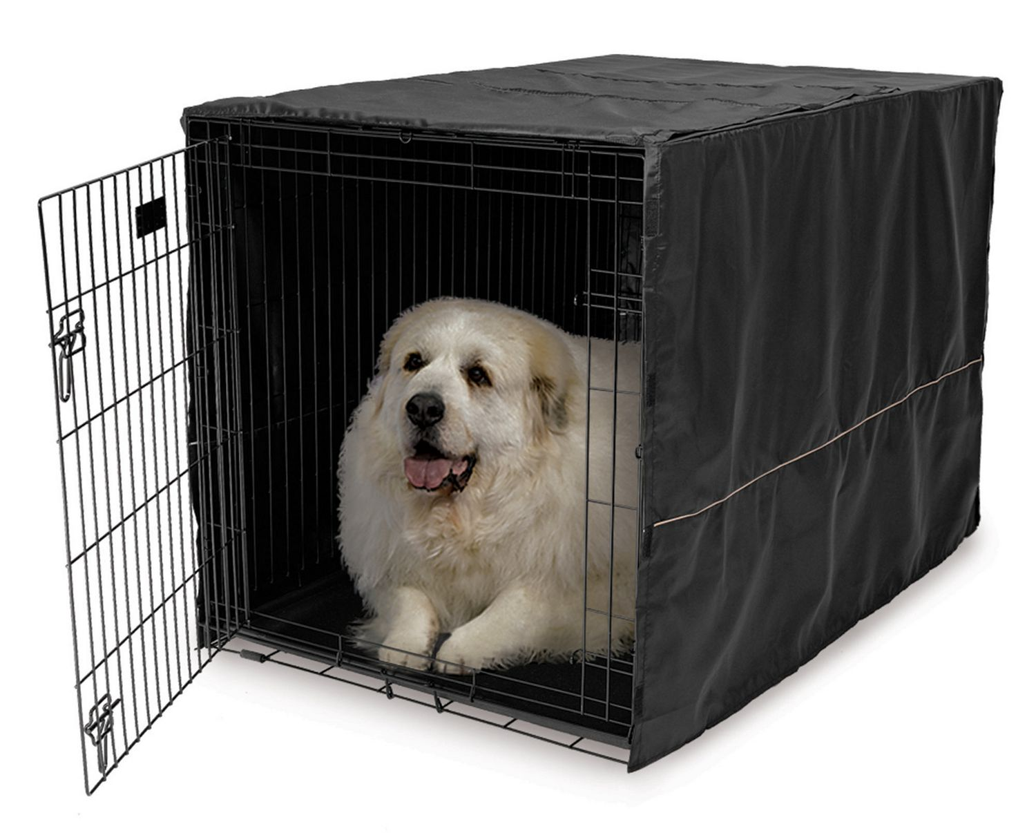 Midwest Homes For Pets Midwest Black Polyester Crate Cover | Walmart ...