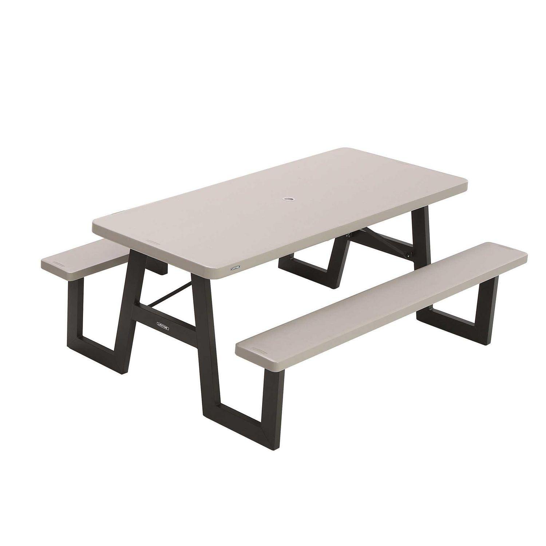 Table de pique-nique pliante à cadre en W de 9 pieds à vie