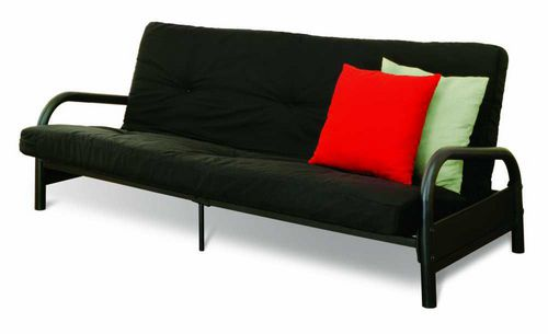 Superbe Mainstays Black Metal Frame Futon With 6 Inch Mattress | Walmart.ca