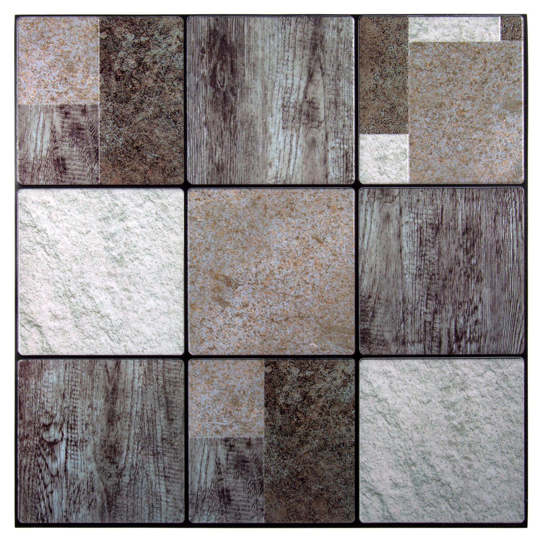 - Truu Design Woodgrain Embossed Self-Adhesive Peel And Stick Wall Tiles  Walmart Canada
