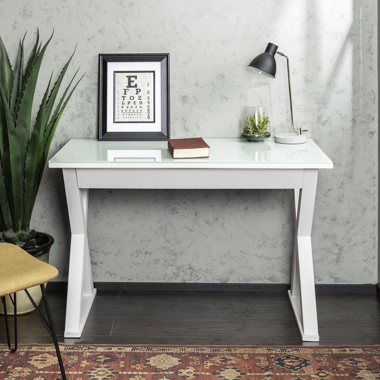 we furniture  white glass computer desk  walmartca -