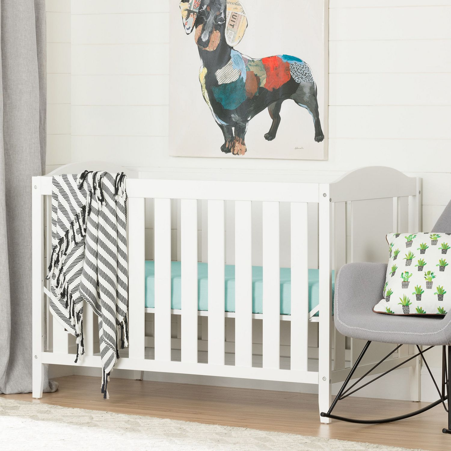 Crib for sale vernon bc - South Shore Cuddly Crib With Toddler Rail White