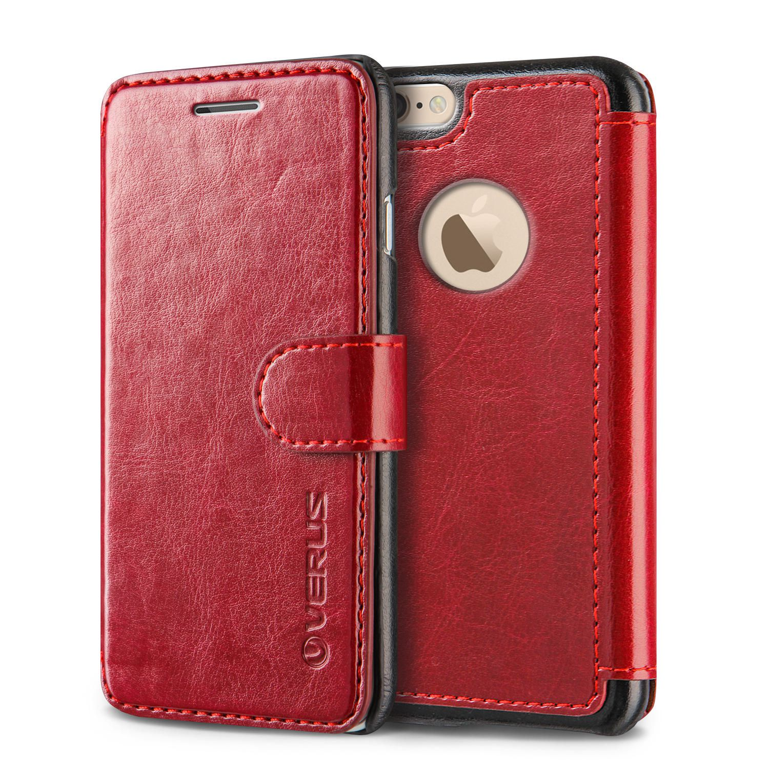 sports shoes f6ac8 c0b41 Verus Layered Dandy Wallet Case for iPhone 6/6S Plus - Red