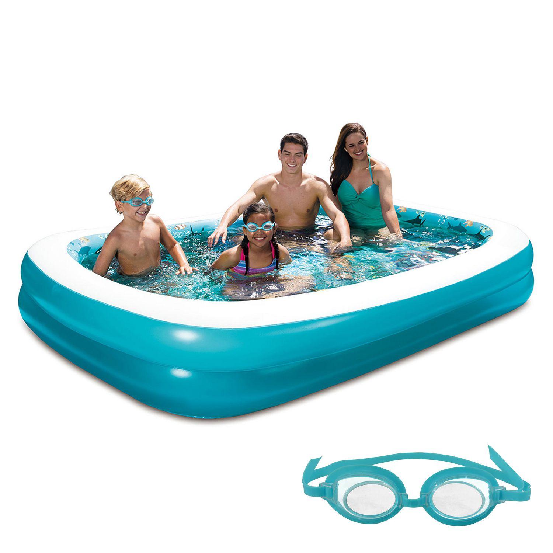 Piscine Gonflable 3d Familiale Rectangulaire 103 Pi 261 62 Cm X 69 Pi 175 26 Cm De Blue Wave Walmart Canada