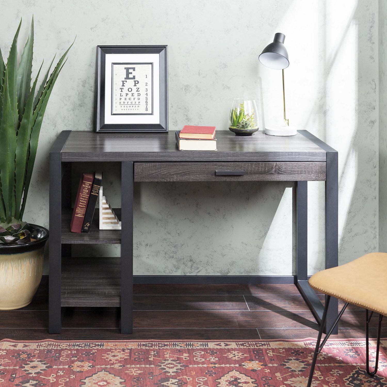 WE Furniture Walker Edison Home Office Charcoal Wood ...