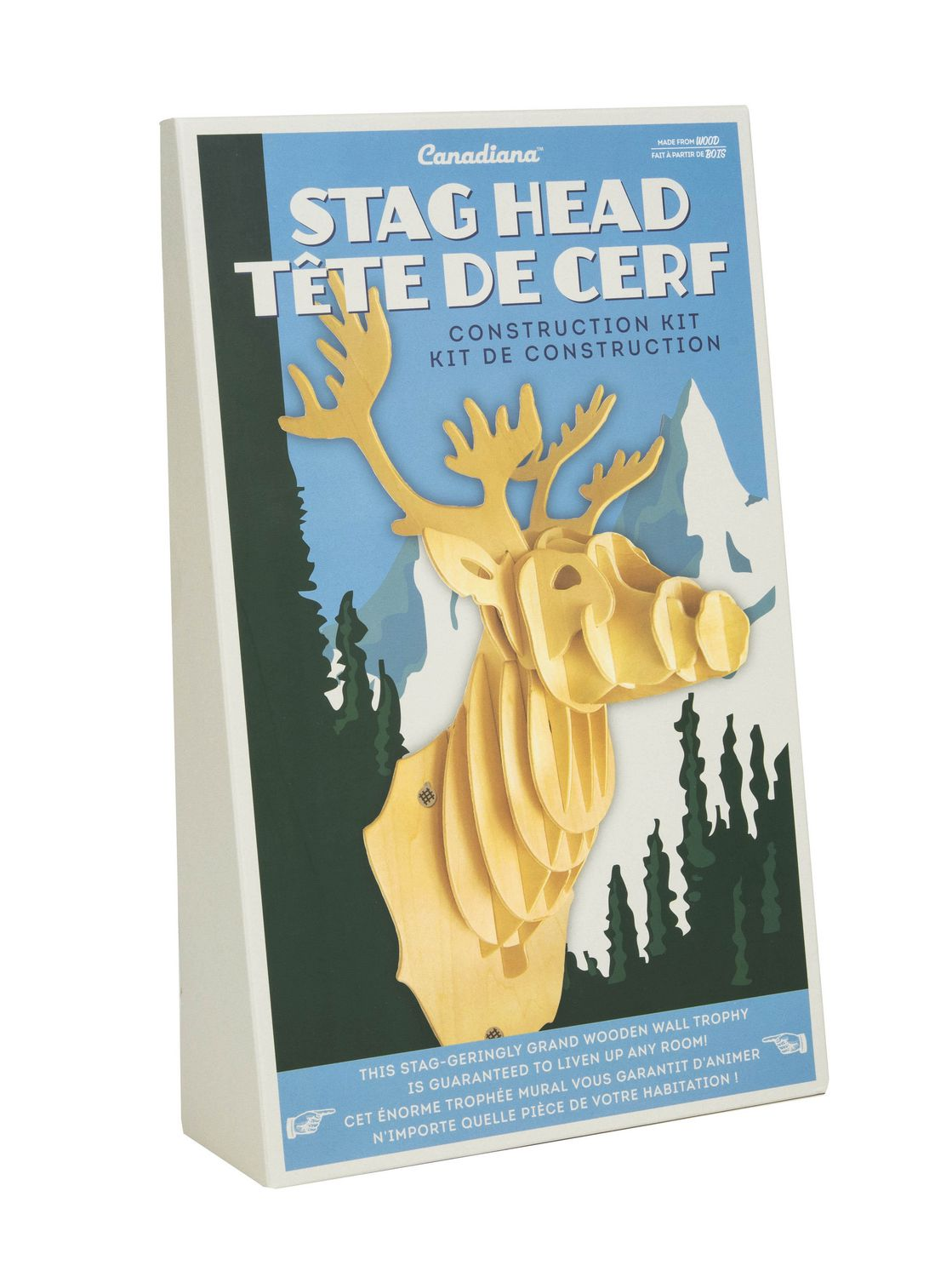 Canadiana Stag Head Wall-Décor Set | Walmart Canada