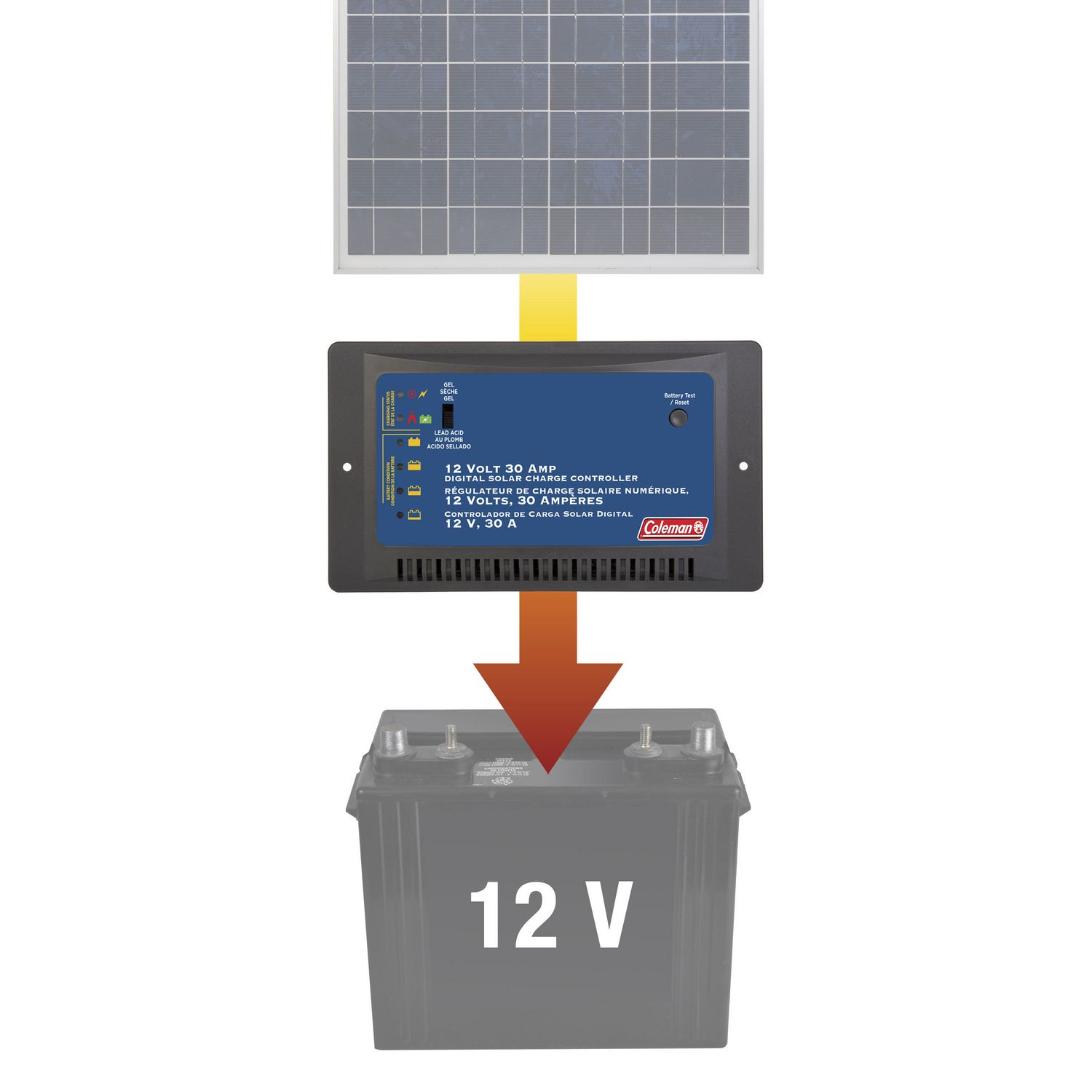 30 Amp 12 Volt Solar Charge Controller Walmart Canada Battery Charger With Overcharge Protection Electronic