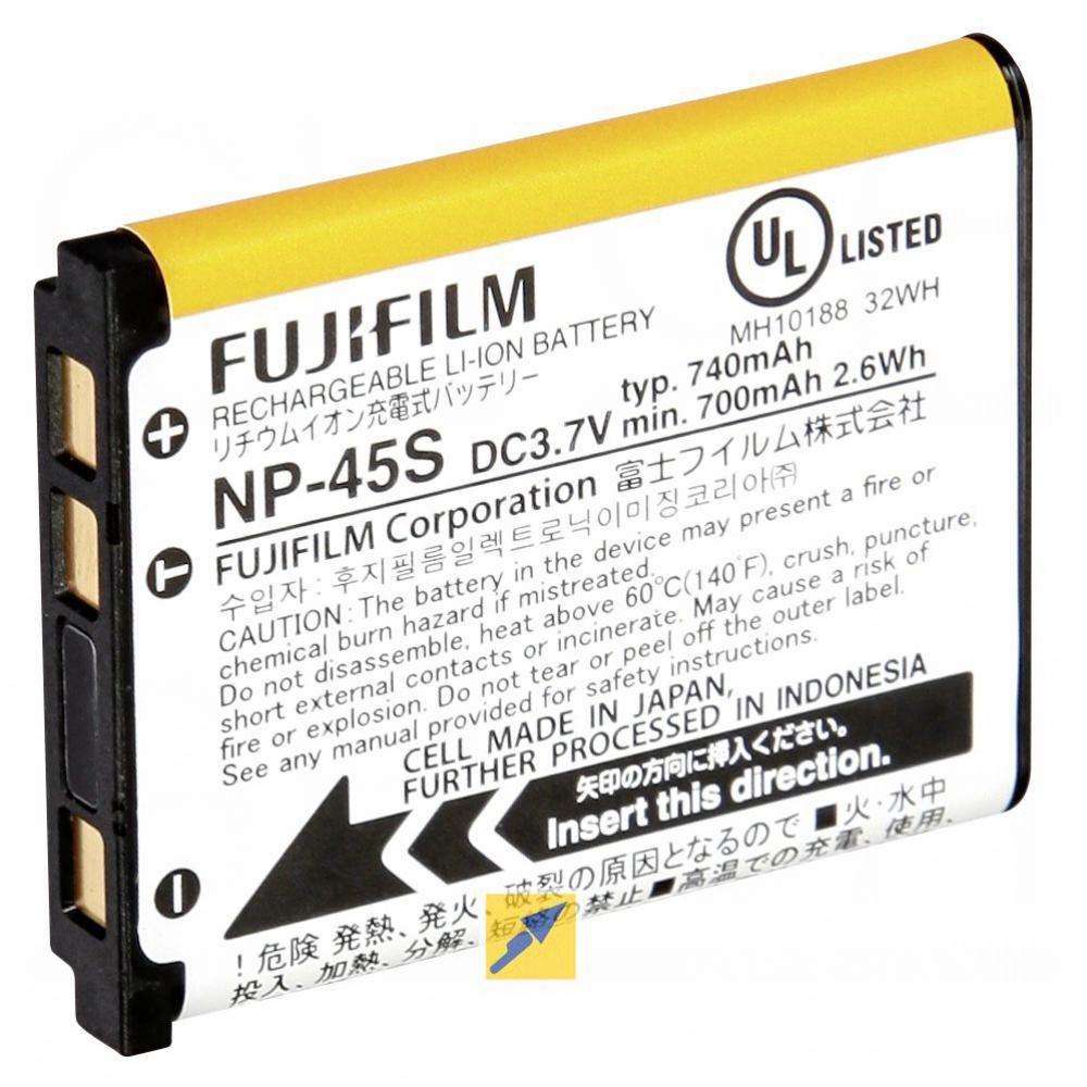 2 baterías compatible con Fuji np-45//np-45a//np-45s
