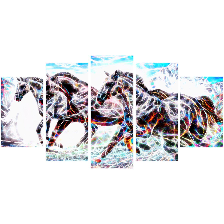 Design Art Stampede Horse Animal Art Multi Panel Canvas Wall Art Walmart Canada