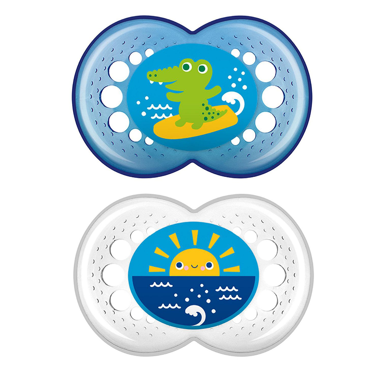 Girls //Boys MAM Crystal Soother 2 Pack 0 months