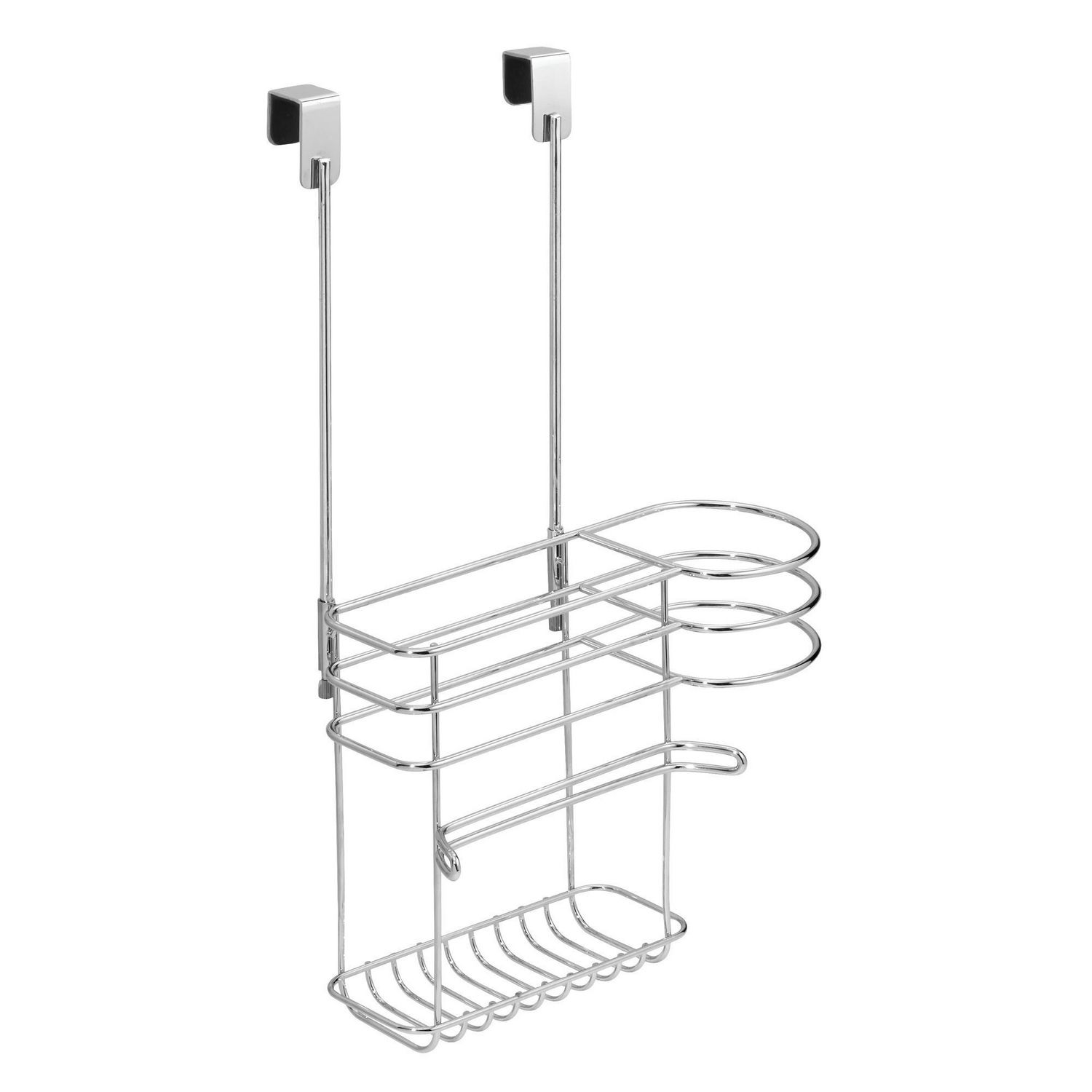 Wondrous Mainstays Chrome Over The Cabinet Hair Care Tools Holder Interior Design Ideas Ghosoteloinfo