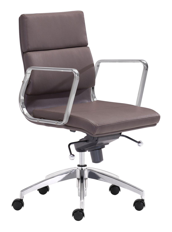 Walmart Furniture Online: Zuo Modern Espresso Engineer Low Back Office Chair