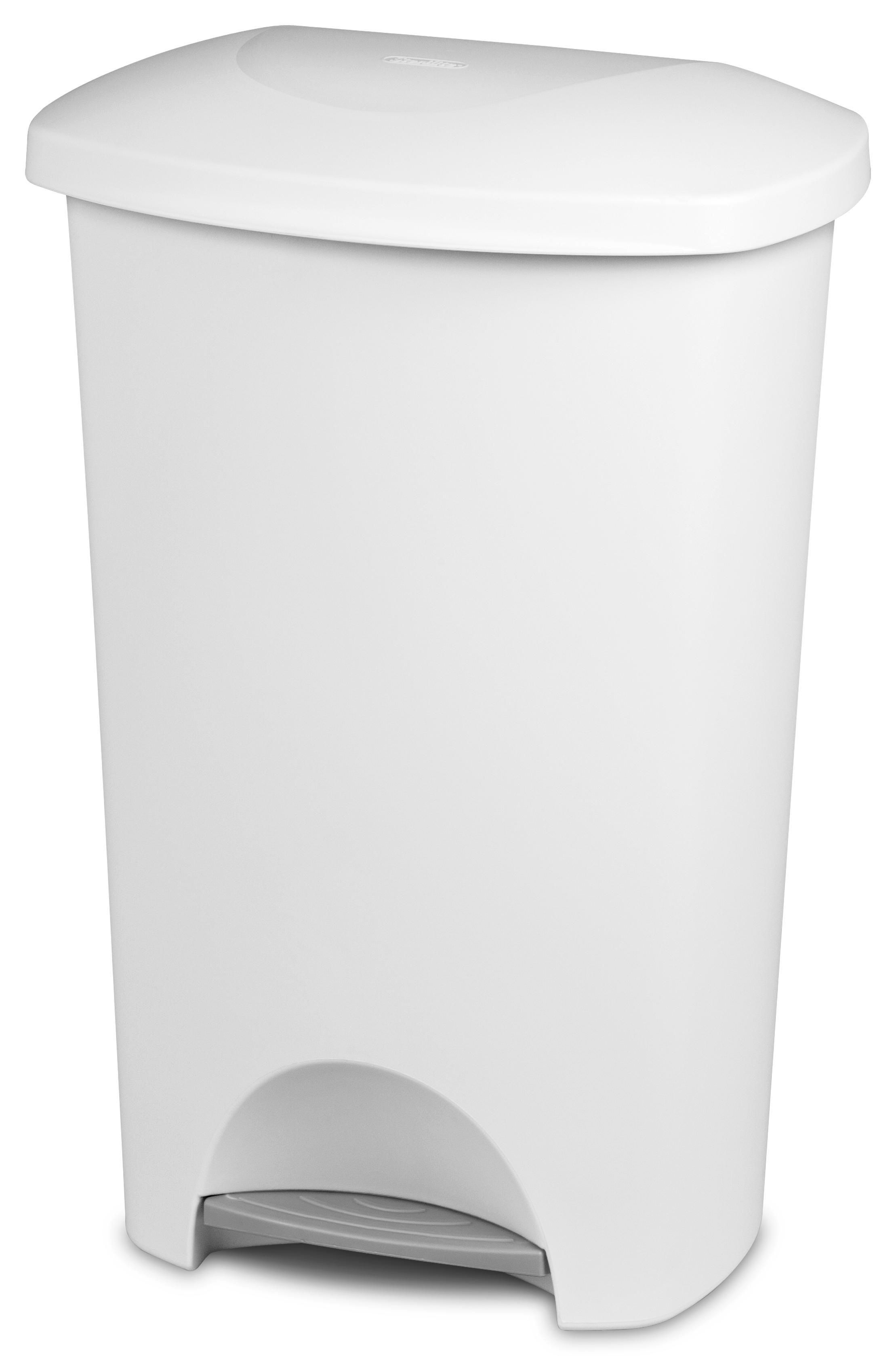 Sterilite 42 Liter Step-On White Wastebasket | Walmart Canada
