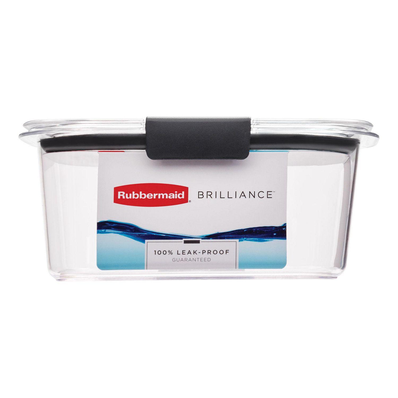 Rubbermaid Brilliance Food Storage Container, Medium, 1.1L ...