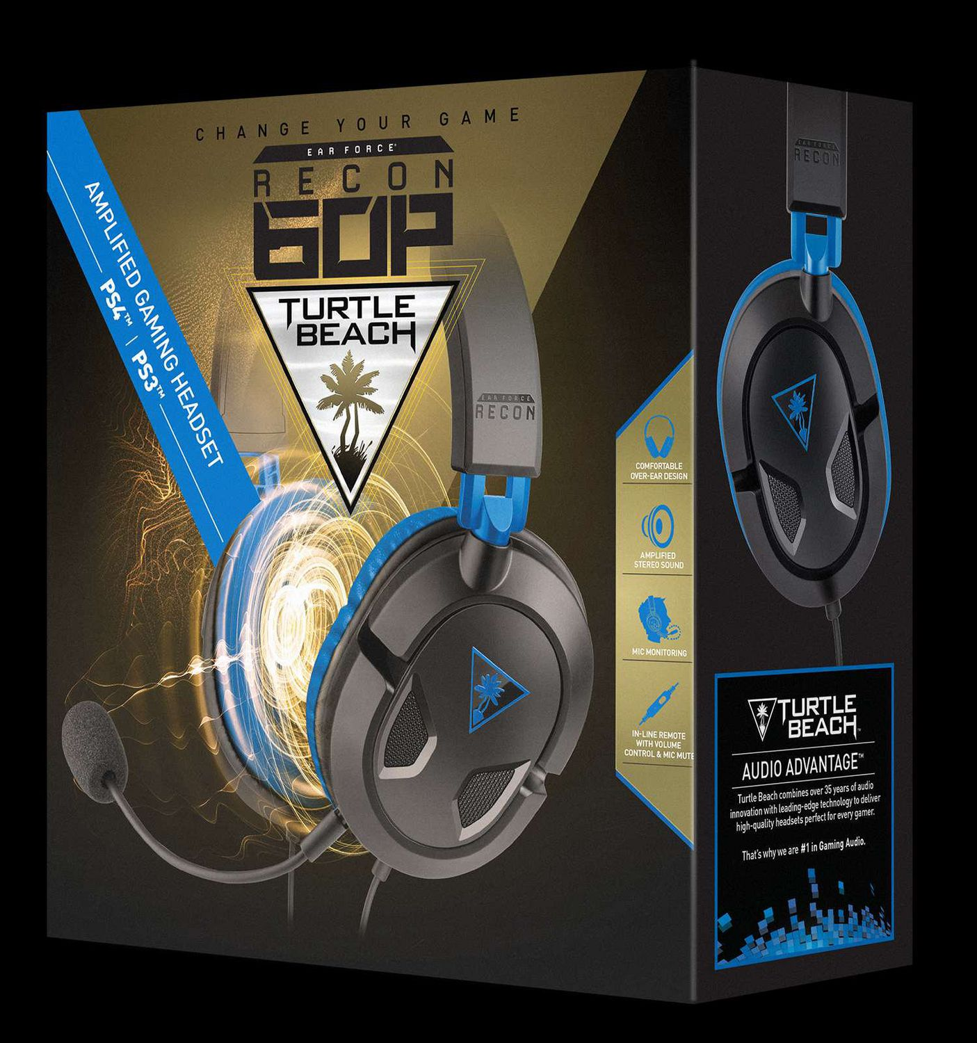 Xbox One and Xbox One S PS4 Pro PS4 Turtle Beach Recon 60P Amplified Stereo Gaming Headset