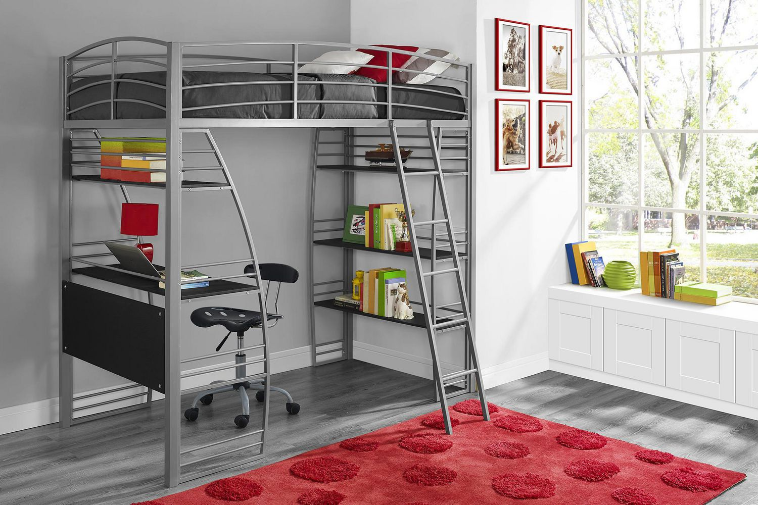 Advantages And Drawbacks Of Strong Wooden Loft Bed With Stairs Studio Loft Bed - image 1 of 8 zoomed image