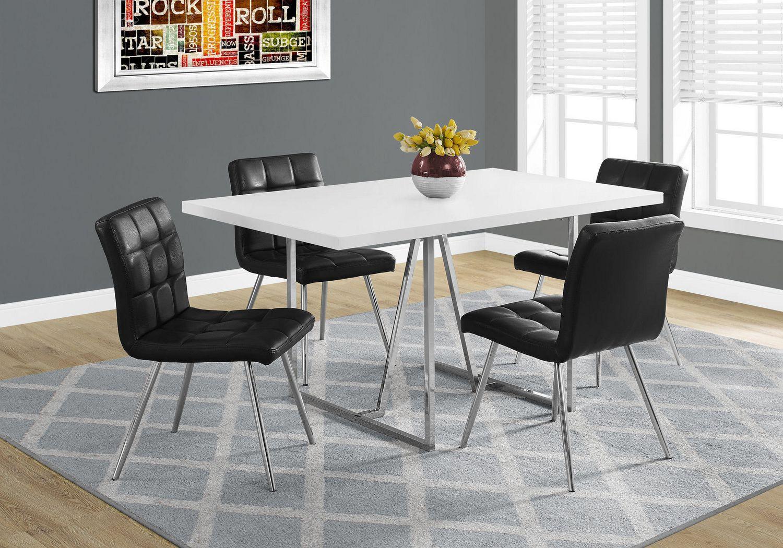 Rehausser Une Table De Salle A Manger table de salle à manger monarch specialties en blanc