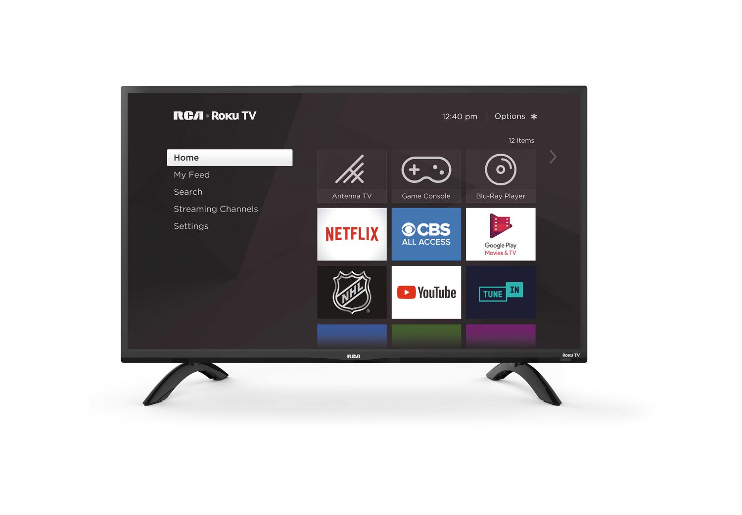 Best TVs - 30 to 39 inches - RCA 32 inch smart TV with apps displayed on home screen