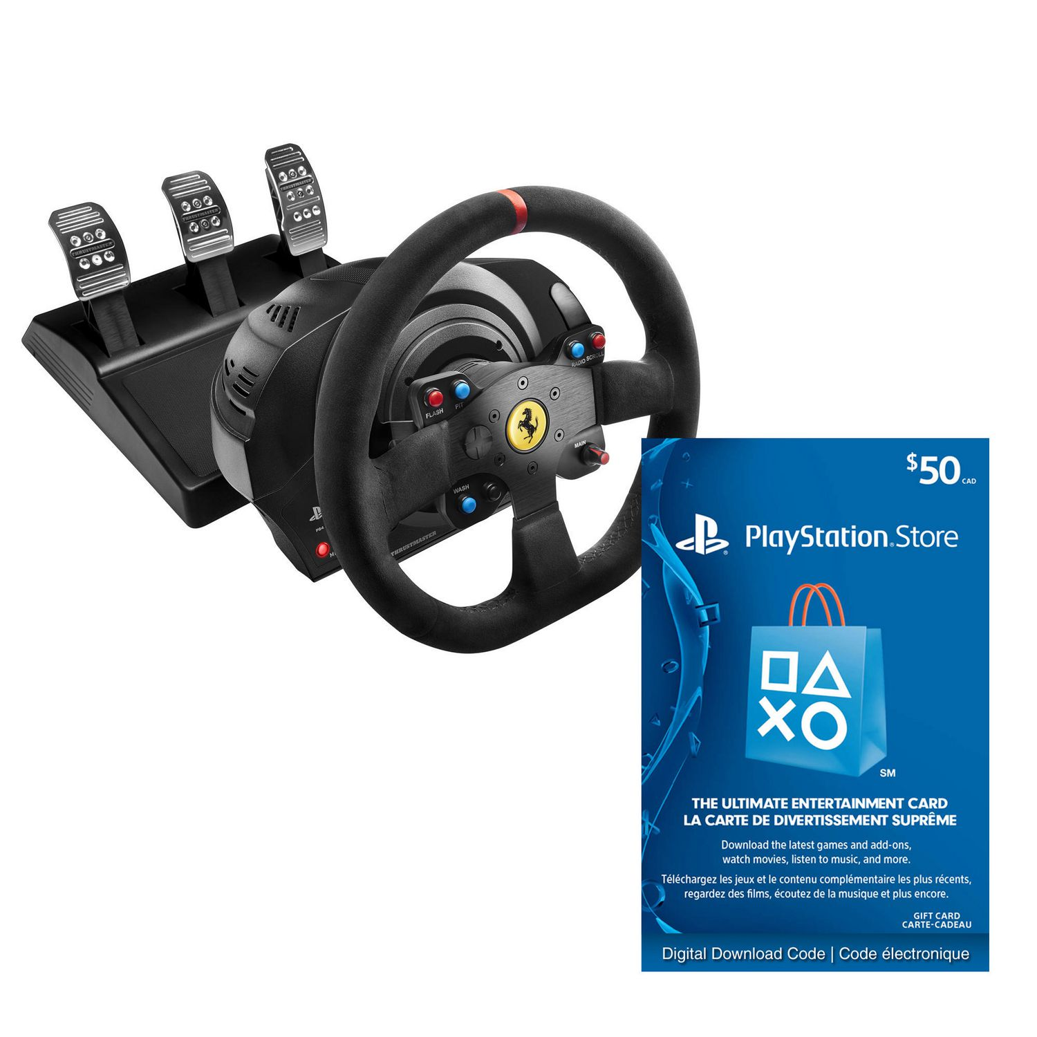 Thrustmaster T300 Ferrari Integral Rw Alcantara Edition With Playstation Network Card 50 Digital Code Electronic Walmart Canada