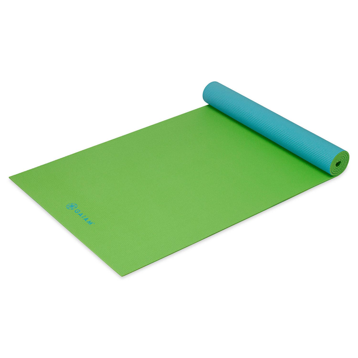 5MM REVERSIBLE 2 COLOR YOGA MAT SEA TURTLE BLUE GREEN