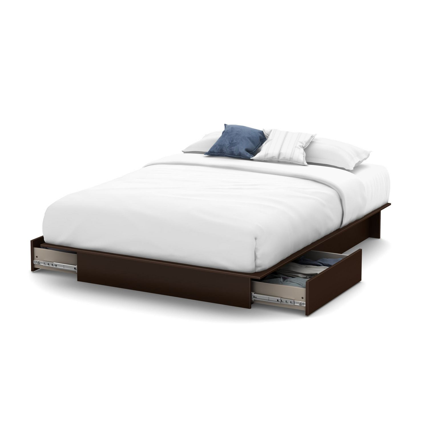 south shore soho collection storage queen platform bed  walmartca -