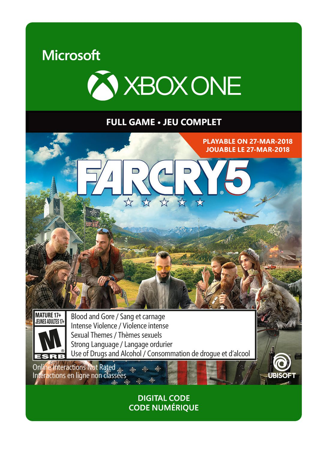 Xbox One Far Cry 5 (Pre-Purchase & Launch Day) Digital Download