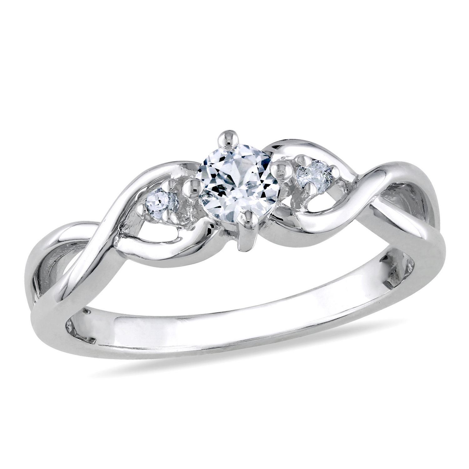 white free created sterling sapphire h product ring shipping today i watches and stone silver overstock promise jewelry solitaire diamond infinity miadora