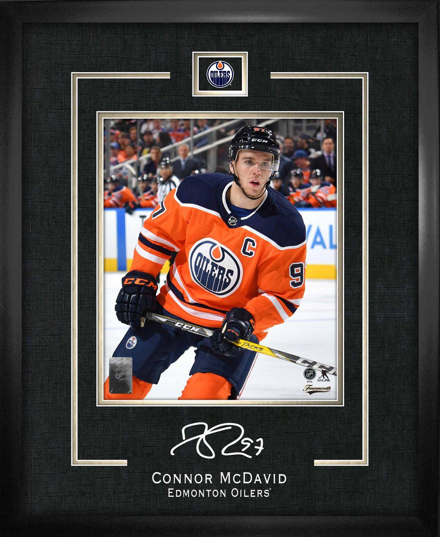 official photos 90dd0 c453c Connor McDavid Replica Signature Frame Edmonton Oilers
