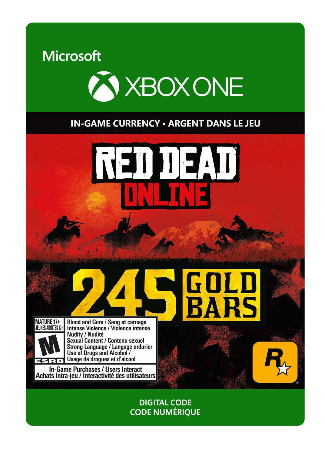 Xbox One Red Dead Redemption 2: 245 Gold Bars [Download
